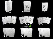 10 Kerzentüten Candlebags Deko Laterne Windlicht Lichttüten Luminarias Papier