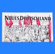 DDR Neues Deutschland März 1952 Geburtstag Hochzeit 64. 65. 66. 67. 68. 69. PB