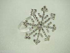 Snowflake Star Crystal Diamond Jewelry Cake Topper Napkin Holder Wedding Decor