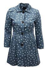 Womens 14 16 18 Bnwt Polka Mac Jacket Coat Button 3 Pockets Blue Chambray *LICK*