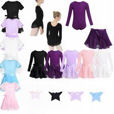 Girls Kid Gymnastics Ballet Dance Dress Skate Tutu Skirt Leotard Costume SZ 2-14