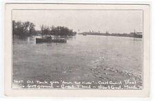 Coast Guard Boat Shell Oil Tank River Flood Hartford Connecticut 1936 postcard