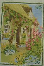 Cottage Gate Tapestry Canvas English Cottage Garden