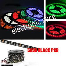 DC12V 1M 5M 5050 300LED Strip Light car DRL DIY tape lamp Black PCB IP20 IP65