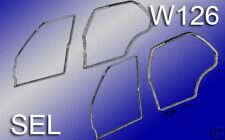 MERCEDES W126 4X TÜRDICHTUNG VORNE + HINTEN LANG - SEL 560SEL 380SEL 300SEL V126