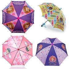 """Disney Sofia The First Doc McStuffins Girls Umbrella 22"""" L x 31"""" Arc"""