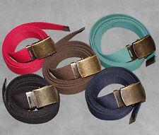 Boys Mens Ladies kids Black Red Navy Brown Green 30mm Big Canvas Belt l xl xxl