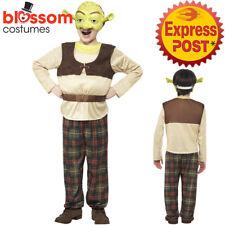 CK986 Boys Child Shrek Kid Licensed Fancy Party Fairytale Ogre Costume Book Week