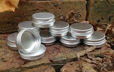 Round Metal Tin 15ml *Lip Balm Camping Survival Kit Small Storage Stash Pot NEW