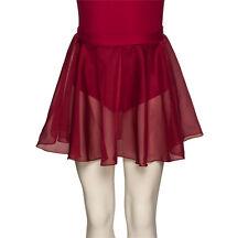 Girls ISTD Chiffon Dance Ballet Skirt All Sizes Blue Or Plum By Katz ISTD-3