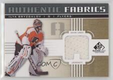 2011 SP Game Used Edition Authentic Fabrics Gold AF-IB.4 Ilya Bryzgalov (A) Card