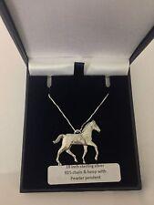 Potro pp-e14 caballos y equitación Collar De Plata 925 16,18,20,26,30