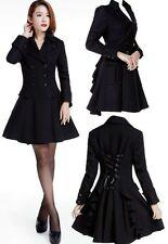 CST Rüschenjacke Jacke Rüschen Gehrock Mantel Gothic Lolita Victorian schwarz