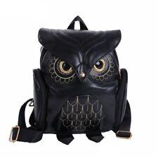 Women Bag Owl Backpack Handmade Girls Travel Shoulder School Silt Pocket Fashion