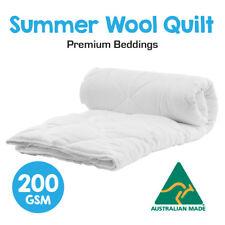 Australian Made Light Weight Luxury Merino Summer Wool Quilt/Duvet/Doona-200GSM