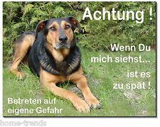 Mischling-Hund-Alu-Schild-15x10 oder 20x15 cm-Türschild-Warnschild-Hundeschild