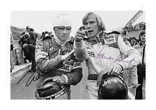 James Hunt & Nikki Lauda 1978 A4 reproduction autographs poster choice of frame