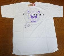 Viva La Bam Margera Signed Element Skateboard White Shirt XL PSA/DNA COA Jackass