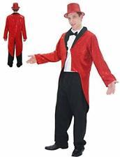 Da Uomo Rosso Jacquard PARADE FRAC giacca per maestro della CAMPANELLA Circo Costume