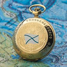 Taschenuhr RUSSISCHE MARINE goldfarbig Andreaskreuz Saltire MOLNIJA 3602