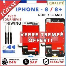 ECRAN LCD + VITRE TACTILE SUR CHASSIS POUR IPHONE 8 OU 8 PLUS + KIT OUTILS