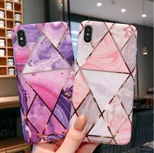 F iPhone 11 Pro Max 8 Plus XS MAX XR Geometric Marble Cute Girl Phone Case Cover
