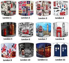 London Big Ben, London black cab, téléphone rouge case & Union Jack lampshades