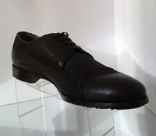 NEW DOLCE & GABBANA Men's Black Velour Cap Toe Lace Up Shoes (Sizes 8 & 8.5)