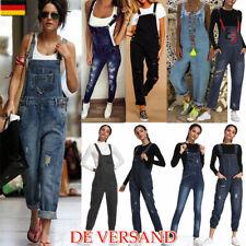 d9de0f73d491f5 Damen Lange Jumpsuit Overall Playsuit Hose Jeans Hosenanzug Latzhose  Latzjeans