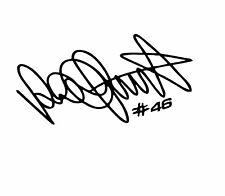 1 stickers valentino rossi ( 7 ), vr46 , autographe, signature
