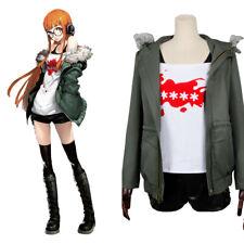 Persona 5 Futaba Sakura Asterisk Shirt A.F.K. Coat Jacket Dress Cosplay Costume
