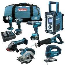 MAKITA LXT 18V 12tlg. Akku Werkzeug Set +DHP480 Schlag-Bohrschrauber +DJV180 RMJ