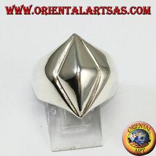 Anillo de plata 925 pirámide con base forma de diamante