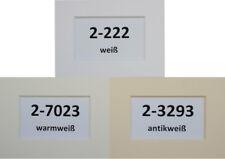 Passepartout nach Maß / Stärke 2,5 mm / säurefrei / alle Größen / 3 Farben