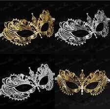 Extravagant Light Metal Laser Cut Venetian Masquerad Mask with Diamonds