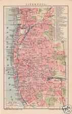 Liverpool Anfield Football Ground plan de la ville de 1904 Kirkfield Fairfield Everton