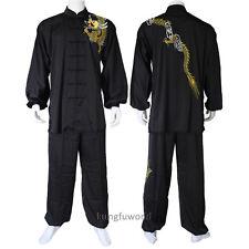 Silk Embroidery Tai chi Suit Martial arts Wing Chun Wushu Kung fu Uniforms