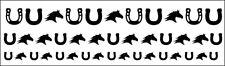 Horse Head & Horseshoe Nail Decal Kit Vinyl Die Cut Shapes Sticker Beauty Equine
