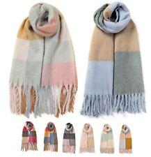 Ladies Woman Classic Winter Grid Check Scarf Pashina Soft Shawl Neck Warmer Gift