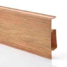 75mm PVC CANADIAN OAK 2.5m SKIRTING BOARD & ACCESSORIES floor wall gap cover