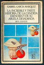 GABRIEL GARCIA MARQUEZ BOOK LA INCREIBLE Y TRISTE FIRST EDITION