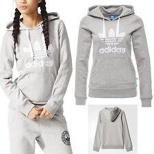 Adidas Originals Women SLIM GRAY HOODIE Track Sweatshirt FLEECE Rita Ora UK 6 12