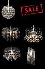 Moderna Lámpara Luz Colgante De Techo Sombra Chandelier Gota de Cristal Acrílico Tonos