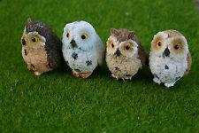 REALISTIC RESIN OWL BIRDS BONSAI, TERRARIUMS PLANT DECOR MINI FAIRY MOSS GARDENS