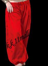 Red  Harem Satin Boho Harem Yoga pant Alladin Girls Costume Boho Tribal S10-3