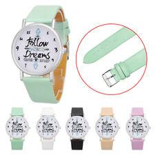 Montre-bracelet femmes suivent Rêves mots modèle cuir montre classic chic style