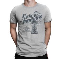 Nikola Tesla Graphic T-Shirt, Premium Cotton Tee, Men's All Sizes