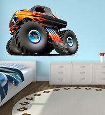 Monster Truck Wall Decal Boys Room Art Playroom Decor Sticker Vinyl J397