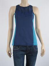 Urbane Activ Ladies Sports Gym Zip Front Singlet Top sizes 12 16 Colour Navy