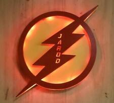 Flash Superhero sign,the flash Night Light, Superhero kids Decor, Personalized